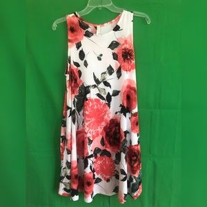 MTS White Floral Swing Dress